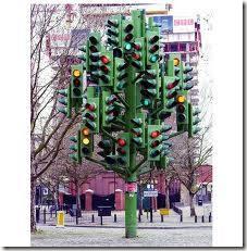 Lampu lalu lintas lebay....